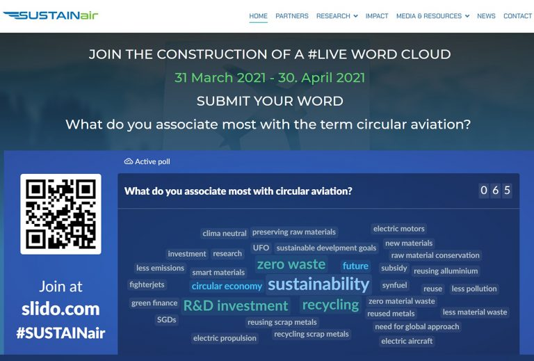 SUSTAINABILITY lead poll on circular aviation