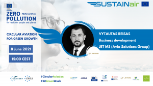 Vytautas Reisas, of Jet Maintenance Solutions, a company of the Avia Solutions Group