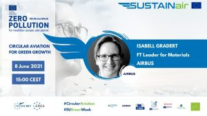 Isabell Gradert, the Airbus Fast Track Leader for Materials and the General Advisor for Materials Technology to the Chief Technology Officer
