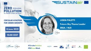 Ligeia Paletti, Circular Aviation theme leader in Future Sky of EREA, and Circular Aviation expert and Living Lab manager at NLR (Netherlands)